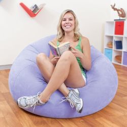 Sillón Inflable Intex Beanless Bag Chair Violeta 20717/1 i450