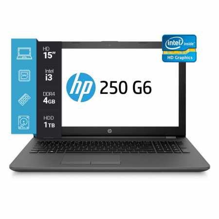 Notebook HP 250 15P/Core i3-6006U/4GB/1TB i450
