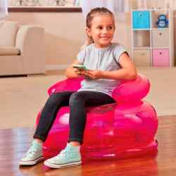 Sillón Inflable Infantil Intex Jr Fun Rosa 22743/0 i450
