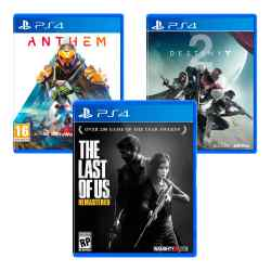 Combo Juegos The Last of Us Remastered + Anthem + Destiny 2 i450