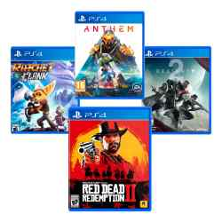 Combo Juegos Red Dead Redemption 2 + Ratchet  Clank + Anthem + Destiny 2 i450