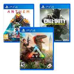 Combo Juegos Ark: Survival Evolved + Call of Duty: Infinite Warfare + Anthem i450