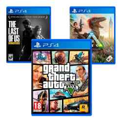Combo Juegos GTA V + Ark: Survival Evolved + The Last of Us Remastered i450
