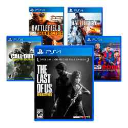 Combo Juegos The Last of Us Remastered + PES 18 + COD: Infinite Warfare + Battle i450
