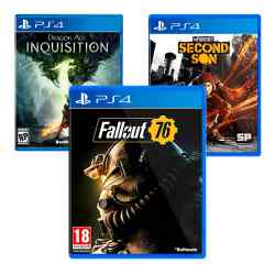 Combo Juegos Fallout 76 + Dragon Age Inquisition + InFAMOUD: Second Son i450