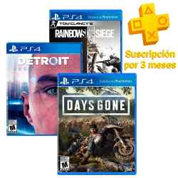 Juegos Days Gone + Rainbow Six Siege + Detroit Become Human i450
