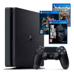 Combo NX 10 PS4 Slim 1 TB + 3 Juegos: The Last of Us 2 + Jump Force + Days Gone i450