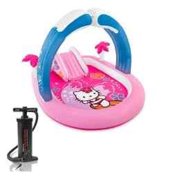 Combo Intex Play Center Inflable Kitty + Inflador 24382/7 i1
