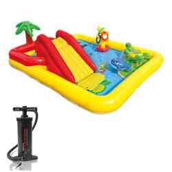 Combo Intex Play Center Inflable Ocean + Inflador 24384/5 i1