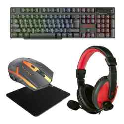 Combo Gamer Teclado + Mouse + Auricular + Pad i450