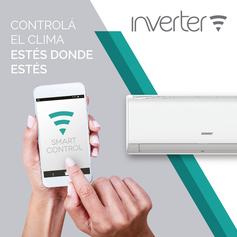 Aire Acondicionado Split Surrey Inverter Smart F/C 3550W 3050 Fg 553ICQ img 5