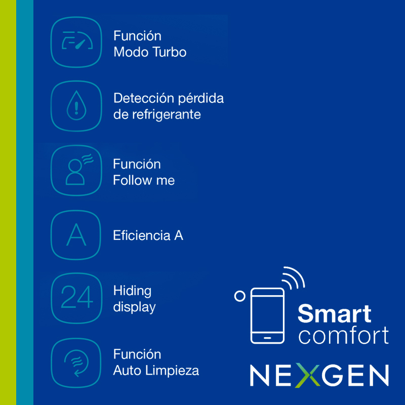 Aire Acondicionado Split Carrier Nexgen Smart 2616W FC 53HNG img 5